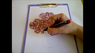 Рисуем букет роз, чтобы оформить поздравительную открытку на 8 марта. Простой вариант(Здравствуйте! Предлагаю вашему вниманию видеоролик, где я показываю, как очень просто нарисовать букет..., 2016-02-29T14:17:31.000Z)