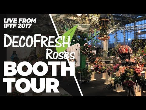 JFTV: Live from Holland - Deco Fresh Roses Booth Tour, IFTF 2017