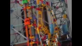 Cool Giant 3 story K'nex Roller Coaster!