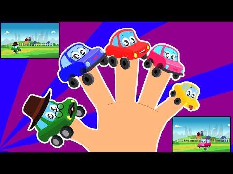 xe ngón tay gia đình | Phim hoạt hình cho trẻ em | biên soạn | ươm vần | Car Finger Family