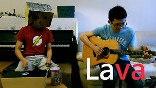 """Lava"" song - Pixar Movie, Guitar (Finger Style) & Bongo cajon cover"