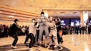 Jabbawockeez Uptown Funk Flashmob at MGM Grand Hotel & Casino