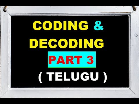 #Coding And Decoding Tricks In Telugu | Coding And Decoding (Reasoning) Part-3