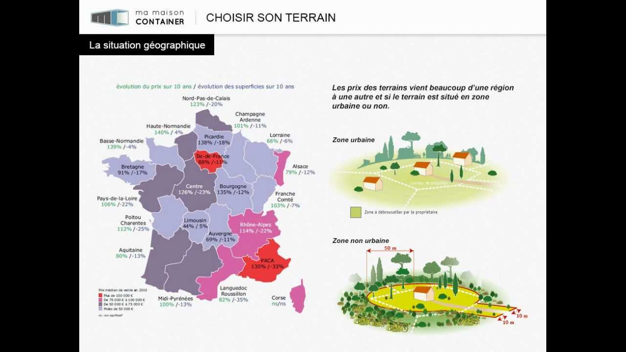 Maison container choisir son terrain youtube for Maison container youtube