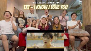 Download lagu COUSINS REACT TO TXT (투모로우바이투게더) '0X1=LOVESONG (I Know I Love You) feat. Seori' Official MV