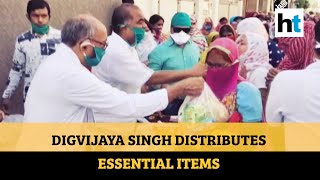 No social distancing as Congress leader distributes essentials in Bhopal