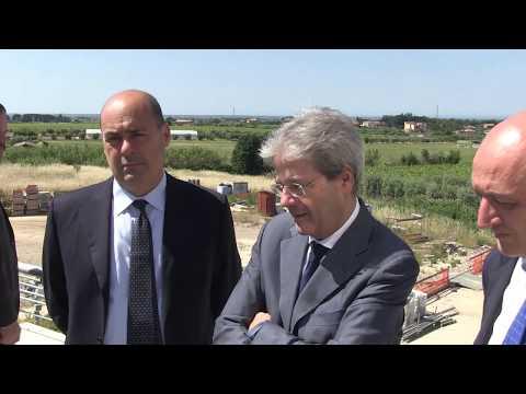 Nuovo ospedale dei Castelli Romani, Gentiloni visita il cantiere