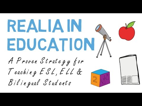 Realia In Esl Ell Bilingual Education Youtube