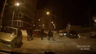 Пьяная драка во дворе дома № 32 на улице Берша 18 февраля в городе Ижевске