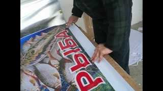 изготовление рекламного плаката,свежая рыба