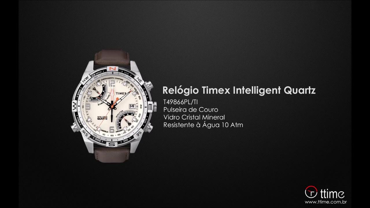 1a77090ece6 RELÓGIO TIMEX INTELLIGENT QUARTZ T49866PL TI - YouTube