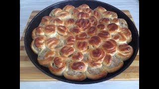 Мясной пирог ХРИЗАНТЕМА,очень вкусный и сытный.