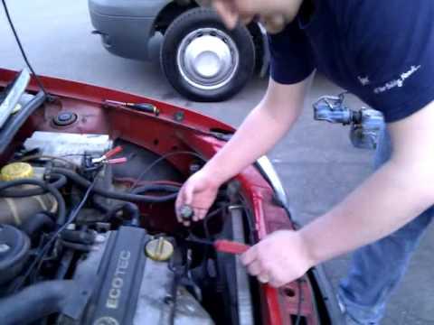 vauxhall corsa b fan switch to start car  YouTube