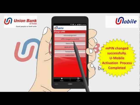 Union Bank of India's U-Mobile Activation Tutorial