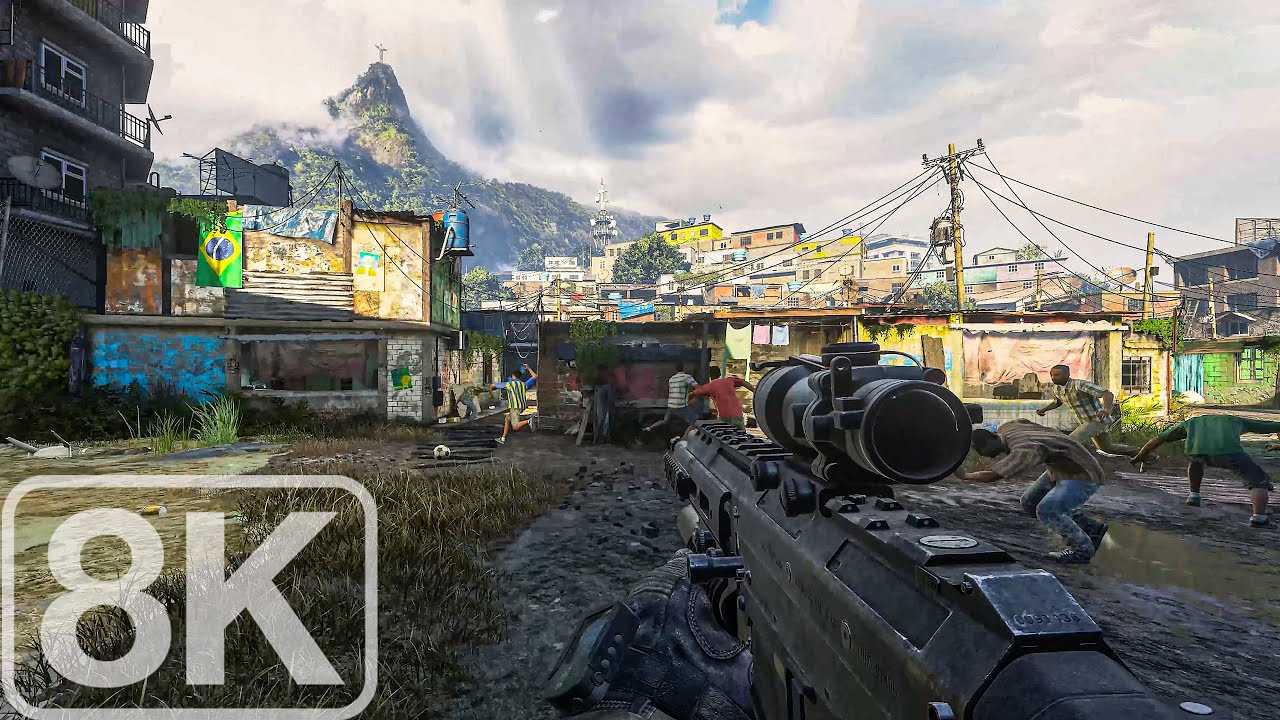 Task Force 141 Favela Firefight - Modern Warfare 2 Remastered - 8K