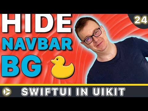 SwiftUI in UIKit - Hide Nav Bar Background | Swift 5, Xcode 10 thumbnail