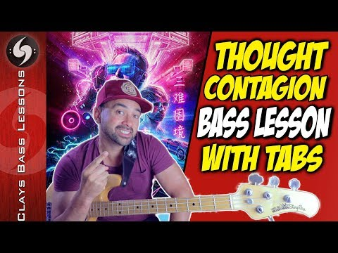 THOUGHT CONTAGION - Bass Lesson with TABS - MUSE