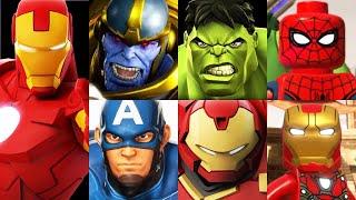 Marvel Avengers Iron Man & Hulkbuster Battle Gameplay! Spider-Man, Hulk, Thanos, Captain America!