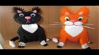 Кошка из модульного оригами-Мастер класс,часть 1.