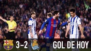 Barcelona 3 Real Sociedad 2 || Doblete de Messi