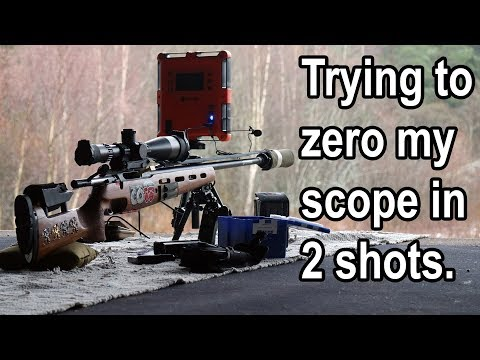 How to zero a scope in 2 shots Or at least try :V