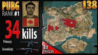PUBG Rank 1 - Shroud 34 kills [NA] DUO FPP - PLAYERUNKNOWN'S BATTLEGROUNDS #138