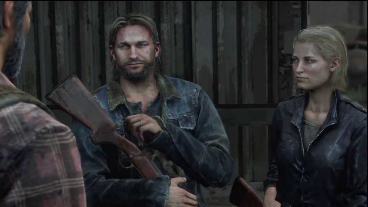 Joel and Tommy brother reunion cutscene The Last of Us - YouTube