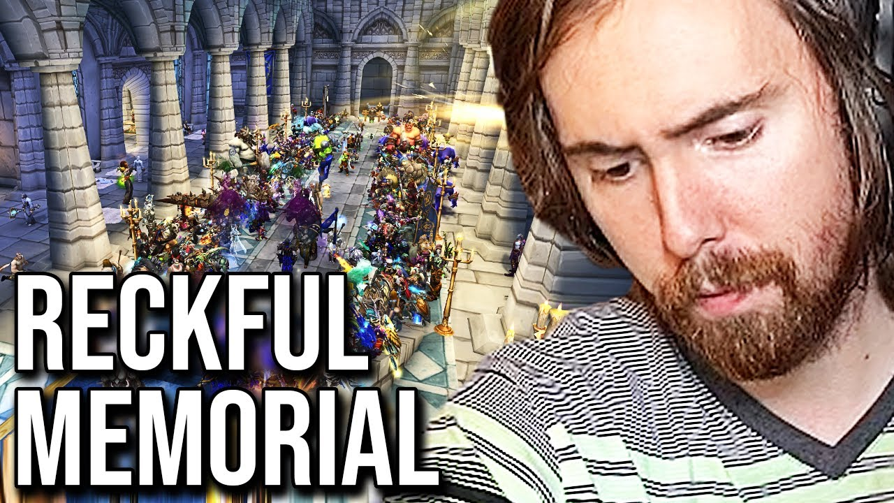 Asmongold & WoW Community Pay Respect To Reckful - Death Memorial (1989 - 2020)
