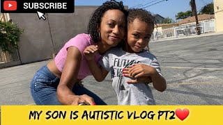 Austism Life Hacks - ASD Family Vlog #2 - Downtown Los Angeles Grand Central Market