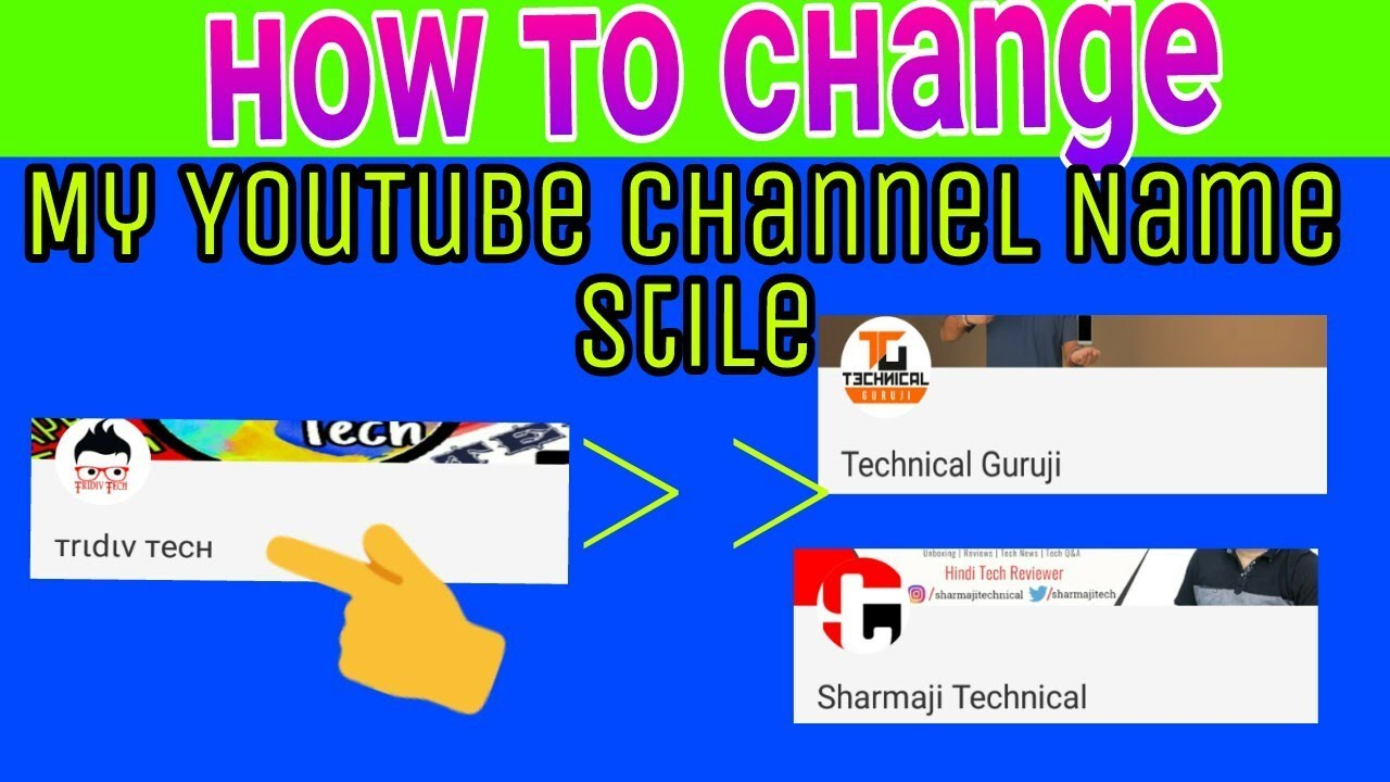 Change Your YouTube Channel Name Font Style Awesome