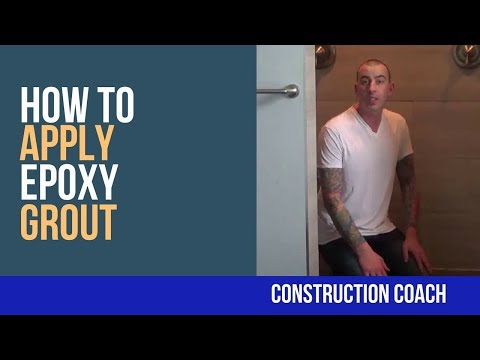 How to apply Epoxy Grout - DIY