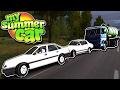 My Summer Car Türkçe // ZİNCİRLEME KAZA VE OTOSTOP ÇEKME #27