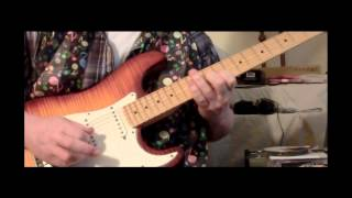 guitar jam using a boss dr 880 pattern ehx b9 pedal is used