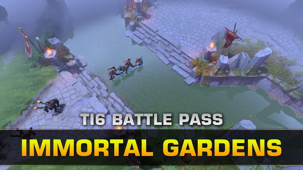 Dota 2 Immortal Gardens Terrain