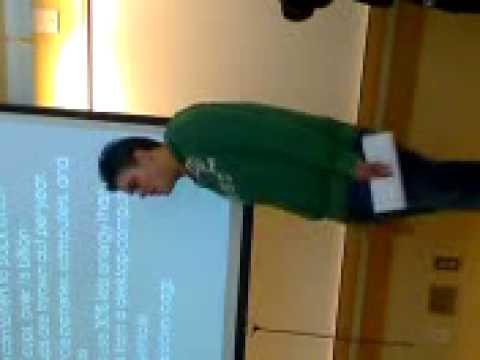 Christopher Espin, A Speech About Global Stuff...