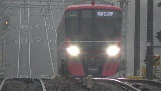 名鉄2020富士松駅【3300系通過~9500入線】