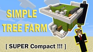 SUPER Simple Tree Farm !! [ HIGHLY COMPACT VERSION ] (Minecraft 1.16)