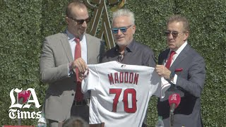 Angels introduce Joe Maddon as their new manager
