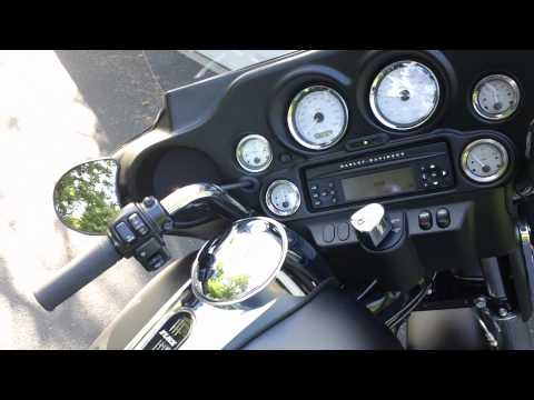 2011 Harley Davidson Street Glide 103 with Rush slip on mufflers - sound byte