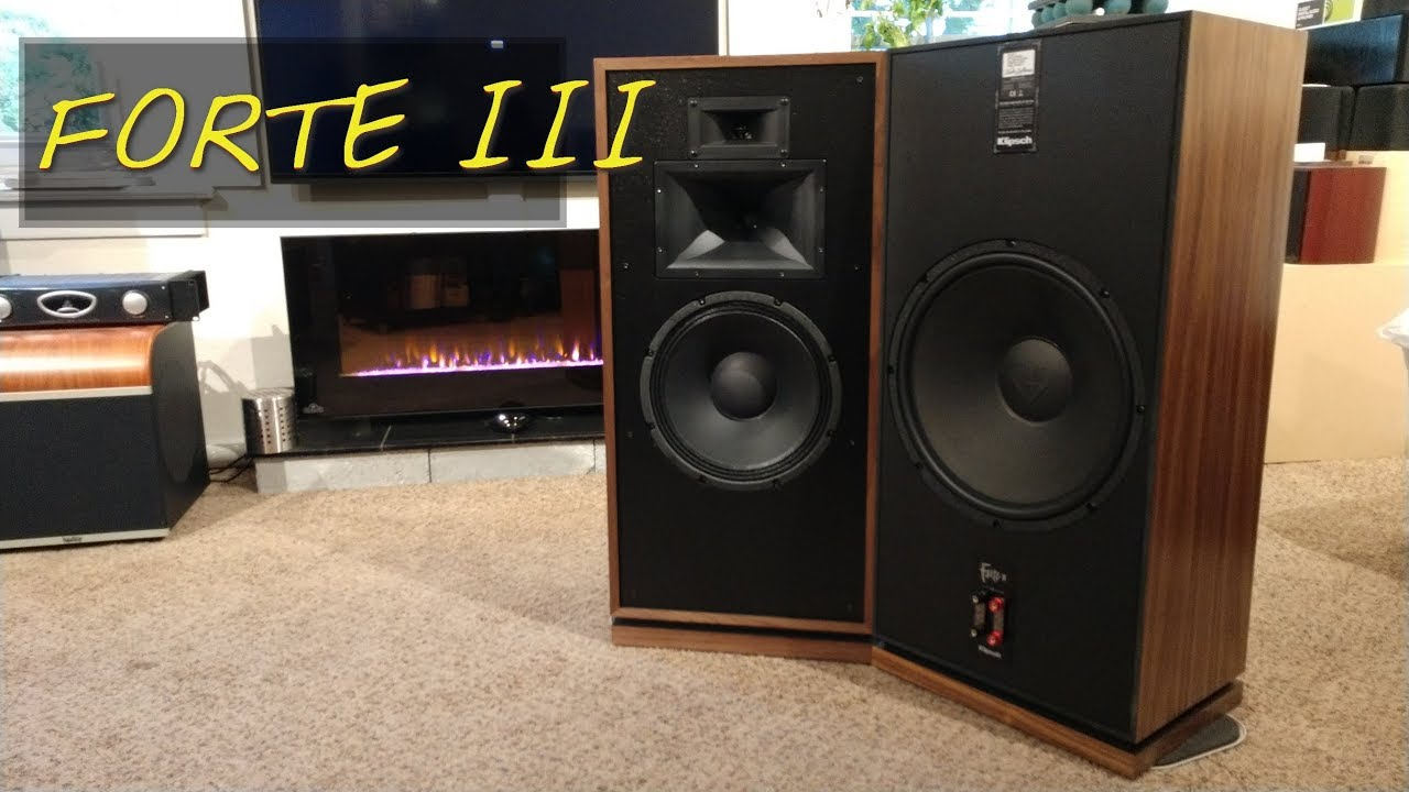 klipsch forte 3. z review - klipsch forte iii (speakers so big when you die they can bury in them!) 3 t