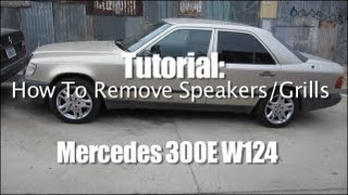 Tutorial: How To Remove Speakers/Grills Mercedes 300E W124