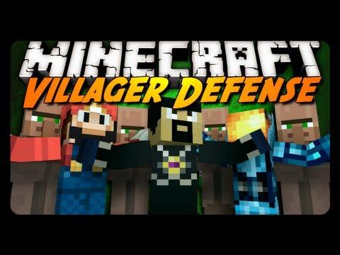 Minecraft Mini-Game: VILLAGER DEFENSE w/ AntVenom & Friends!