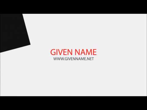 Given Name - Your baby