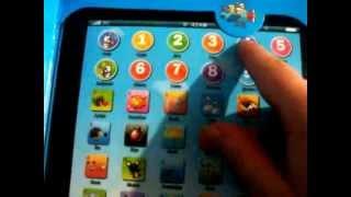 видео Планшет детский игрушечный: развивающая музыкальная игрушка в виде планшета для детей