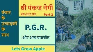 P.G.R. और अन्य बातचीत | श्री पंकज नेगी जी | बंजार के उत्पादकों के साथ प्रश्न उत्तर सत्र।