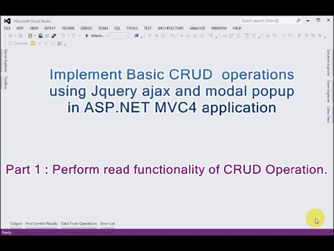 Part 1 -  Basic CRUD operations using Jquery ajax and modal popup in ASP.NET MVC4.