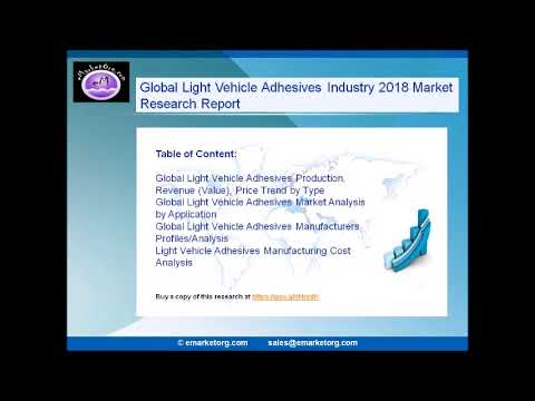 Global Light Vehicle Adhesives Market Research Report 2018