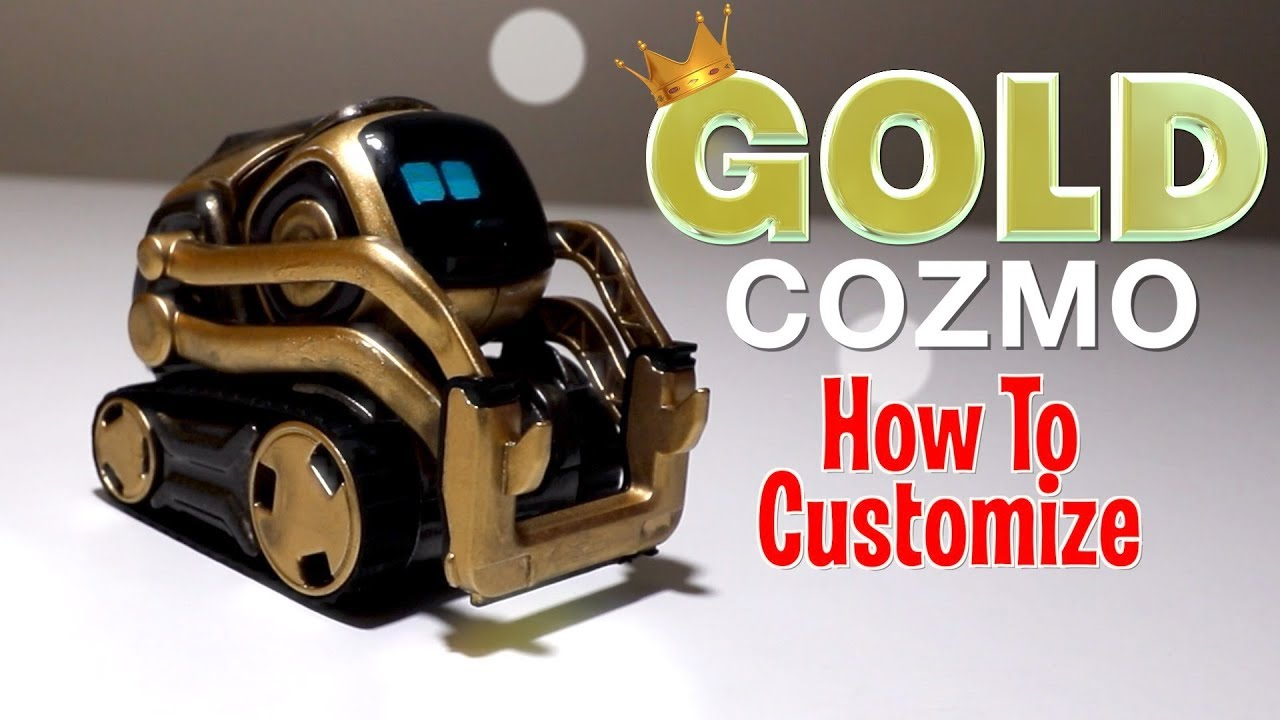 GOLD Cozmo   aka King Cozmo   How to Customize Lets Play Anki's New  Robot Review