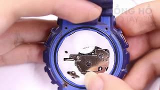 Hướng dẫn thay pin đồng hồ casio G shock GA110, GA100