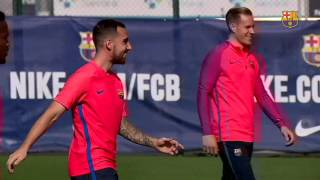 Fc barcelona training session: match schedule for barcelona's 13 international players